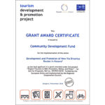 CDF wins the Award Certificate for the development and promotion of tourism in the Balkans